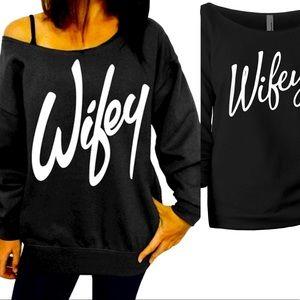 Wifey Off The shoulder sweatshirt